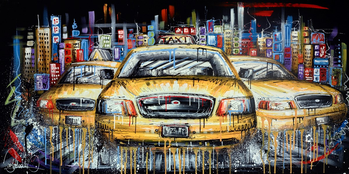 Running the City by samantha ellis -  sized 48x24 inches. Available from Whitewall Galleries